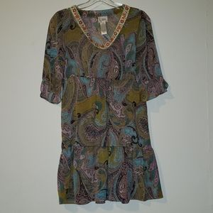 Tray Porter sheer paisley dress